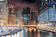 Camminata del fiume del Chicago Immagini Stock