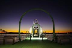 Camminata del fiume di Baton Rouge Fotografia Stock