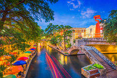 Camminata del fiume di San Antonio fotografia stock libera da diritti