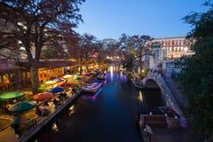 Camminata del fiume a San Antonio il Texas Fotografie Stock