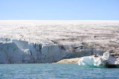 Camminata del ghiacciaio Fotografia Stock