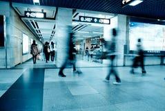 Camminata del passeggero di affari Fotografie Stock