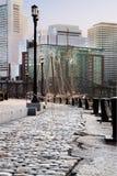 Camminata del porto Fotografie Stock Libere da Diritti