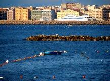 Camminata dell'acqua di Napoli, Italia immagine stock libera da diritti