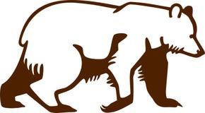 Camminata dell'orso bruno Immagine Stock Libera da Diritti