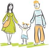 Camminata della famiglia illustrazione vettoriale