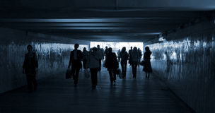 Camminata della gente Fotografia Stock