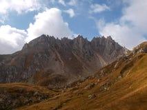 Camminata della montagna Passo Colombe e Passo del Sole Fotografie Stock