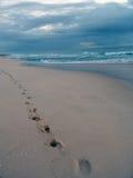 Camminata della spiaggia Fotografia Stock