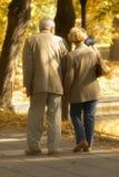 Camminata di autunno Immagini Stock Libere da Diritti
