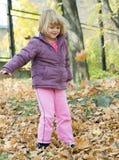 camminata di autunno Fotografie Stock Libere da Diritti