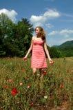 Camminata di estate in natura Fotografia Stock Libera da Diritti