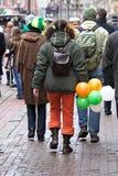 Camminata di giorno della st Patricks Fotografia Stock
