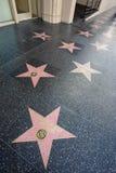Camminata di Hollywood di fama Fotografie Stock Libere da Diritti