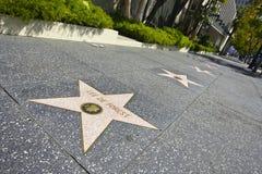 Camminata di Hollywood di fama Immagini Stock