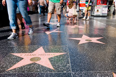 Camminata di Hollywood di fama Fotografie Stock