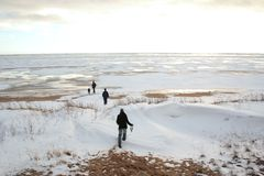 Camminata di inverno Fotografie Stock Libere da Diritti