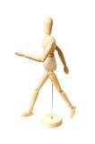 Camminata di legno del manichino Fotografie Stock Libere da Diritti