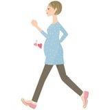 Camminata di maternità Fotografia Stock