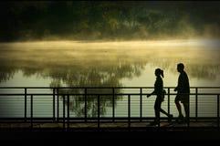Camminata di mattina Immagini Stock Libere da Diritti