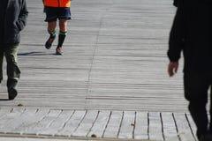 Camminata e correre all'aperto Fotografia Stock Libera da Diritti