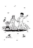 Camminata felice della famiglia (2007) Immagini Stock