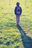 Camminata lontano Immagini Stock