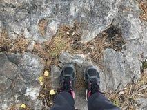 Camminata in montagne Fotografia Stock