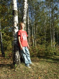 Camminata nella foresta Immagine Stock