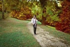 Camminata nella sosta Fotografia Stock