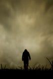 Camminata sola Fotografia Stock Libera da Diritti