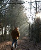 Camminata solitaria Fotografia Stock