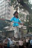 Camminata sulla corda Fotografia Stock Libera da Diritti