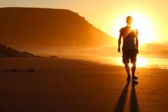 Camminata sulla spiaggia Immagini Stock Libere da Diritti