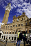Camminata in terre di Siena Fotografie Stock Libere da Diritti