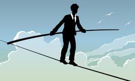 Camminatore della corda per funamboli Immagini Stock Libere da Diritti
