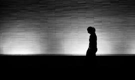 Camminatore di notte Immagini Stock Libere da Diritti