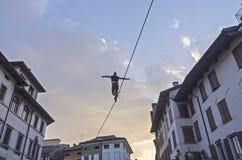 Camminatore di Tightrope Immagini Stock Libere da Diritti