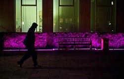 Camminatore nel nite Fotografie Stock Libere da Diritti