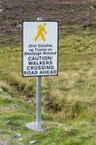 Camminatori che attraversano segno Fotografie Stock
