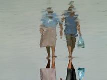 Camminatori della spiaggia Immagine Stock Libera da Diritti