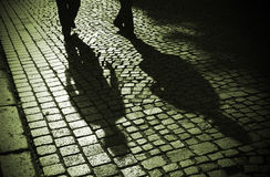 Camminatori Midnight fotografia stock libera da diritti