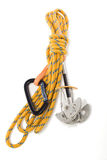 Camming Device and rope Royalty Free Stock Images
