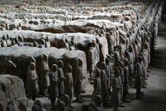 Cammini più vicino ai guerrieri di terracotta Xi nel `, Cina ` s un la t Fotografia Stock Libera da Diritti