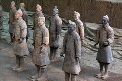 Cammini più vicino ai guerrieri di terracotta Xi nel `, Cina ` s un la t Fotografie Stock Libere da Diritti