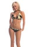 camo блондинкы бикини Стоковое фото RF