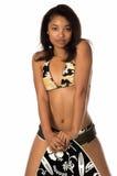 Camo Bikini-Abgeschöpftvorstand Stockfotografie