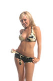 Camo Bikini Blonde Stock Photo