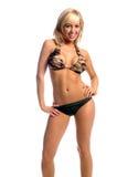 Camo Bikini Blonde Royalty Free Stock Images