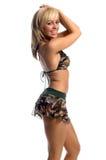Camo Bikini-Rock Lizenzfreie Stockbilder